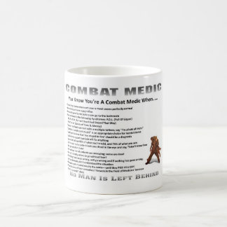 Classic White Coffee Mug Army Combat Medic