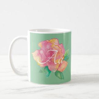 "Classic white coffee mug ""Pink Flower"""