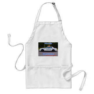 Classic White Ford Police Adult Apron