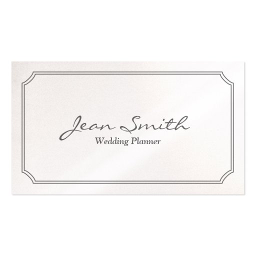 Classic White Frame Wedding Planner Business Card
