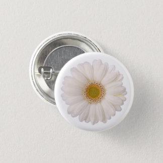 Classic White Gerbera Daisy Flower 3 Cm Round Badge