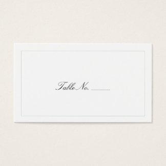 Classic White Guest Escort Cards