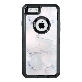 Classic White Marble Geology Stone Pink Blue Black OtterBox iPhone 6/6s Case