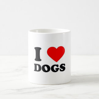 Classic white mug 325 ml Designer I love Dogs