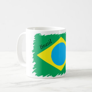 Classic white mug 325ml - Designer flag Brazil