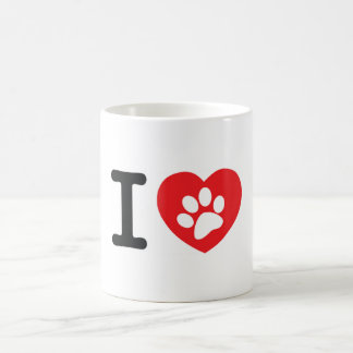 Classic white mug - Designer I love dog