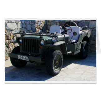 Classic Willy's Jeep. Greeting Cards