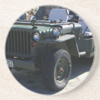 Classic Willy's Jeep. Sandstone Coaster