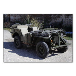 Classic Willys Jeep Table Cards