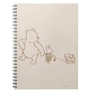 Classic Winnie the Pooh and Piglet 2 Note Books