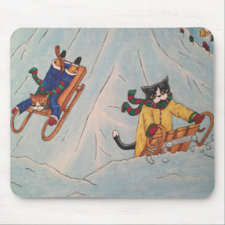 Classic Winter Sledging Mouse Pad