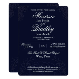 Classic Winter Wedding Invitation Template