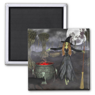 Classic Witch Halloween Magnet
