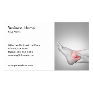 Classic with Photo of Woman's Ankle Doctor Pack Of Standard Business Cards