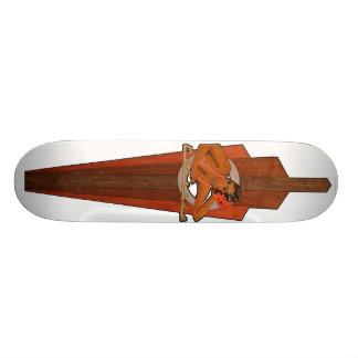classic wood custom skateboard