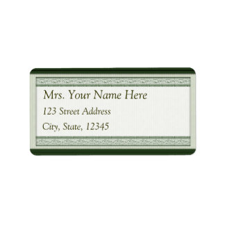 Classic Woodcut Green Address Lables Address Label
