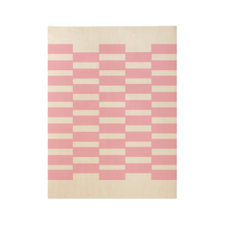 Classic wooden Poster with pink Blocks Wood Poster