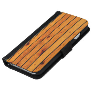 Classic wooden sailboat shipdeck iPhone 6 wallet case
