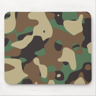 Classic Woodland Pattern Camo Mouse Pad