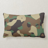 Classic Woodland Pattern Camo Throw Pillow