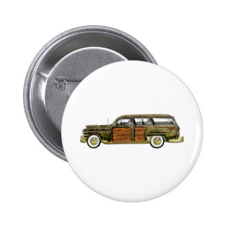 Classic Woody Station wagon 6 Cm Round Badge