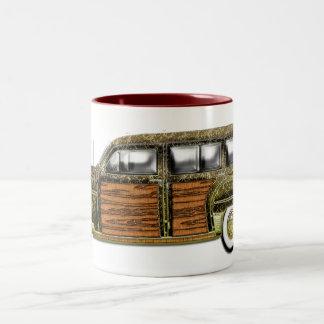 Classic Woody Station wagon Two-Tone Coffee Mug
