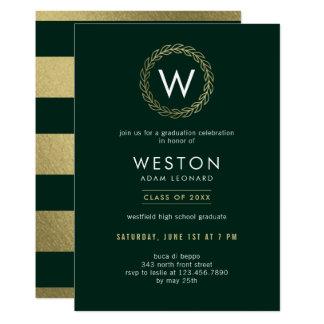 Classic Wreath EDITABLE COLOR Graduation Invite