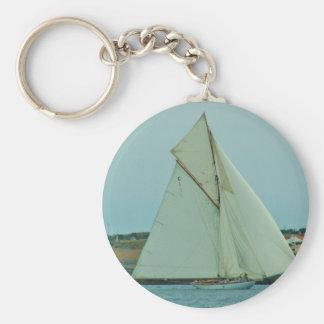 Classic Yacht Mariquita Basic Round Button Key Ring