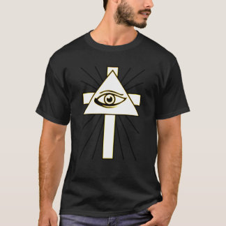 Classic Yellow All Seeing Illuminati Eye Tee