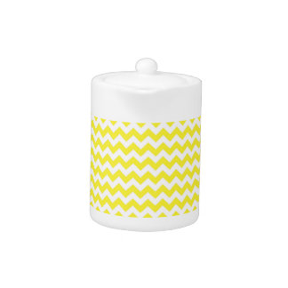 Classic Yellow and White Chevron Pattern