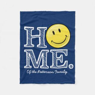 Classic Yellow Happy Face Housewarming Fleece Blanket