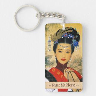 Classic young beautiful chinese princess Guo Jin Key Ring