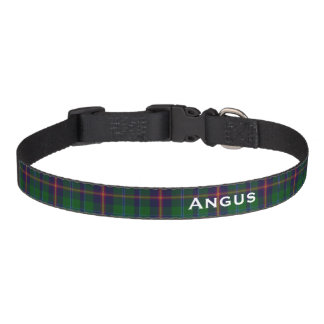 Classic Young Tartan Plaid Custom Dog Collar