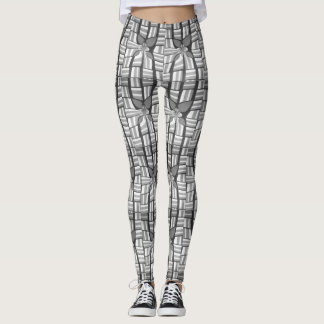Classic Zebra Lovely Abstract Geometric Pattern Leggings