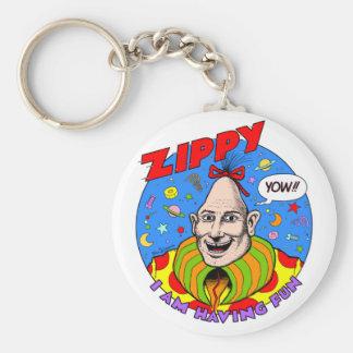 Classic Zippy Key Ring Basic Round Button Key Ring