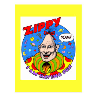 Classic Zippy Yellow Postcard