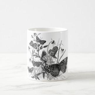 Classic Zoological Etching - Butterflies Coffee Mug