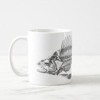 Classic Zoological Etching - Fish Skeleton Basic White Mug