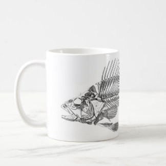 Classic Zoological Etching - Fish Skeleton Coffee Mug