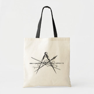 Classical Architecture Drafting Tools Budget Tote Bag