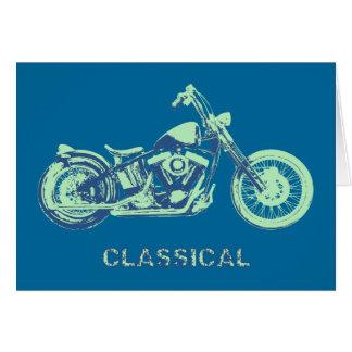 Classical -blu-grn greeting card
