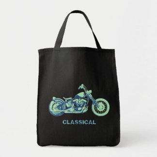 Classical -blu-grn grocery tote bag