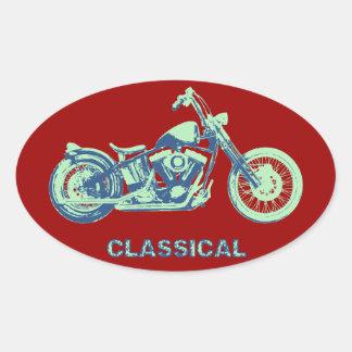 Classical -blu-grn oval sticker