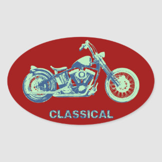 Classical -blu-grn oval stickers