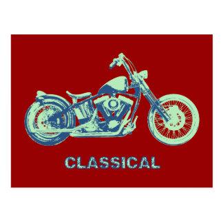 Classical -blu-grn postcard