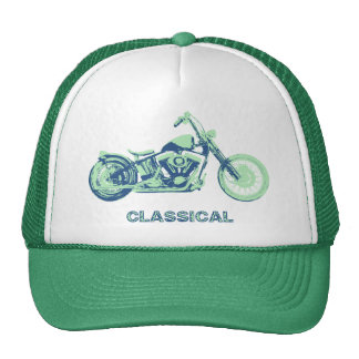 Classical -blu-grn trucker hats