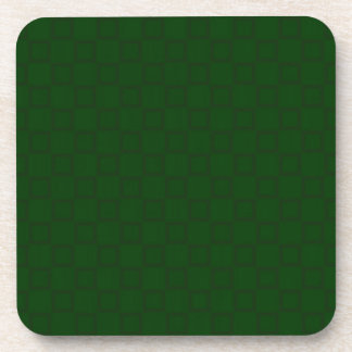 Classical dark green Cork Coaster