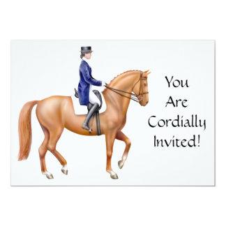 "Classical Dressage Horse Invitation 5"" X 7"" Invitation Card"