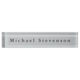 Classical Grey Unique Personal Business Nameplate