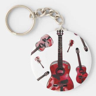 Classical guitar 02.jpg basic round button key ring